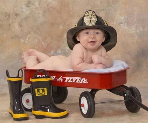pompier nu