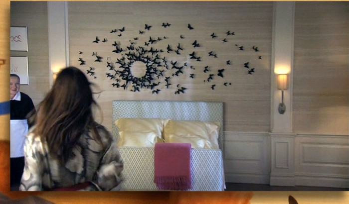 Papillons mur Serena Gossip Girl