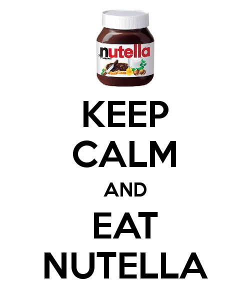 Keep calm nutella